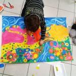"""""""La Chemin"""" collage, peinture (illustration de conte avec les 3/5 ans)"""