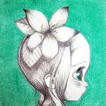 Illustration crayon et pastel (Tessa, 9 ans)