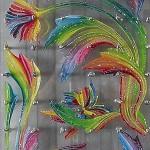 """""""Emprise"""" acrylique, plexiglass, visses et taule"""