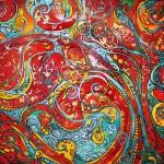 """""""Flamenco Flamboyant"""" acrylique et encre"""